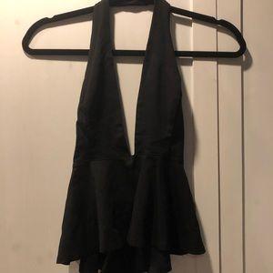 Tops - Black Halter Top